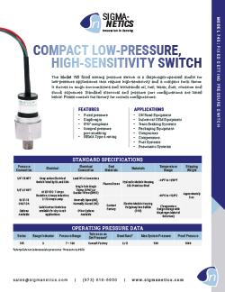 Pressure Switch Data Sheet 745