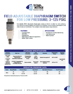 Pressure Switch Data Sheet 768-C