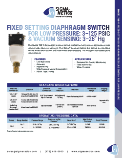 Pressure Switch Data Sheet 768-V