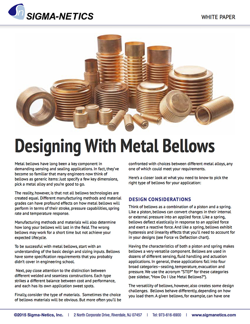 Designing with Metal Bellows White Paper Download