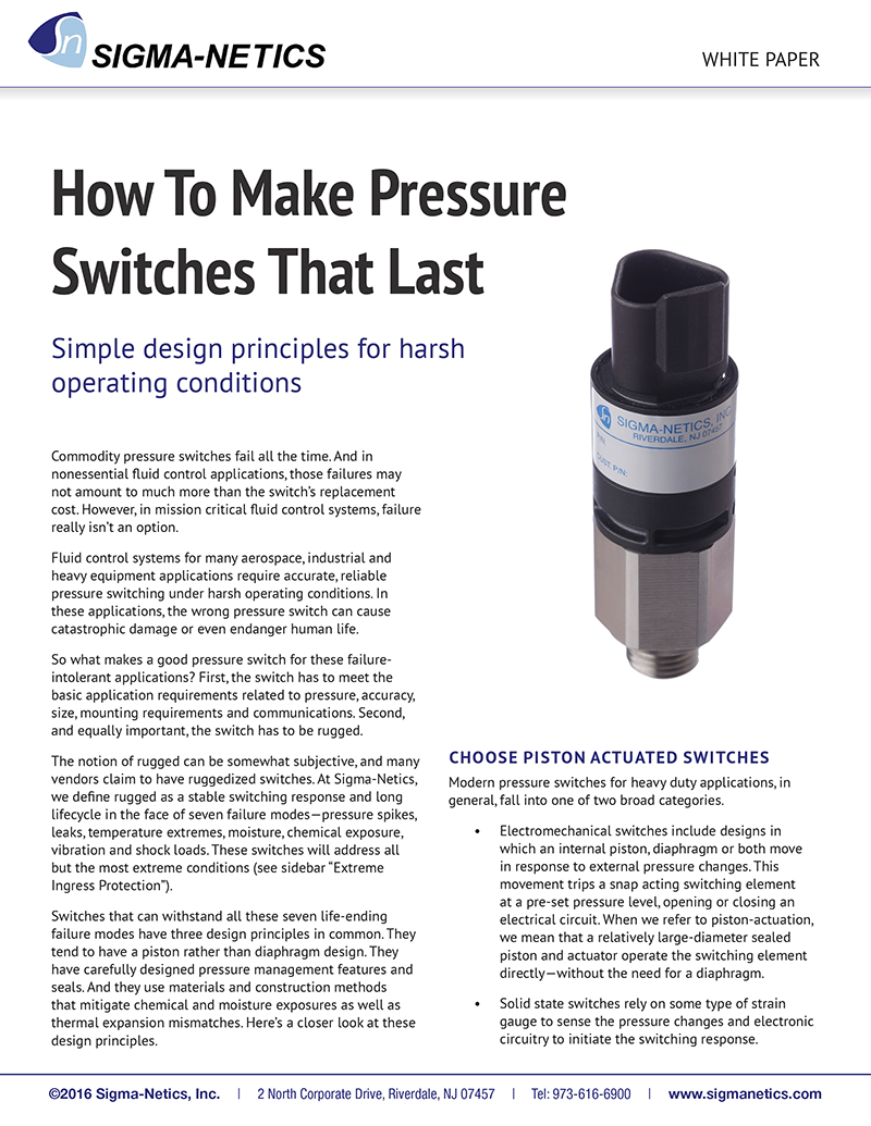 Pressure Switch White Paper