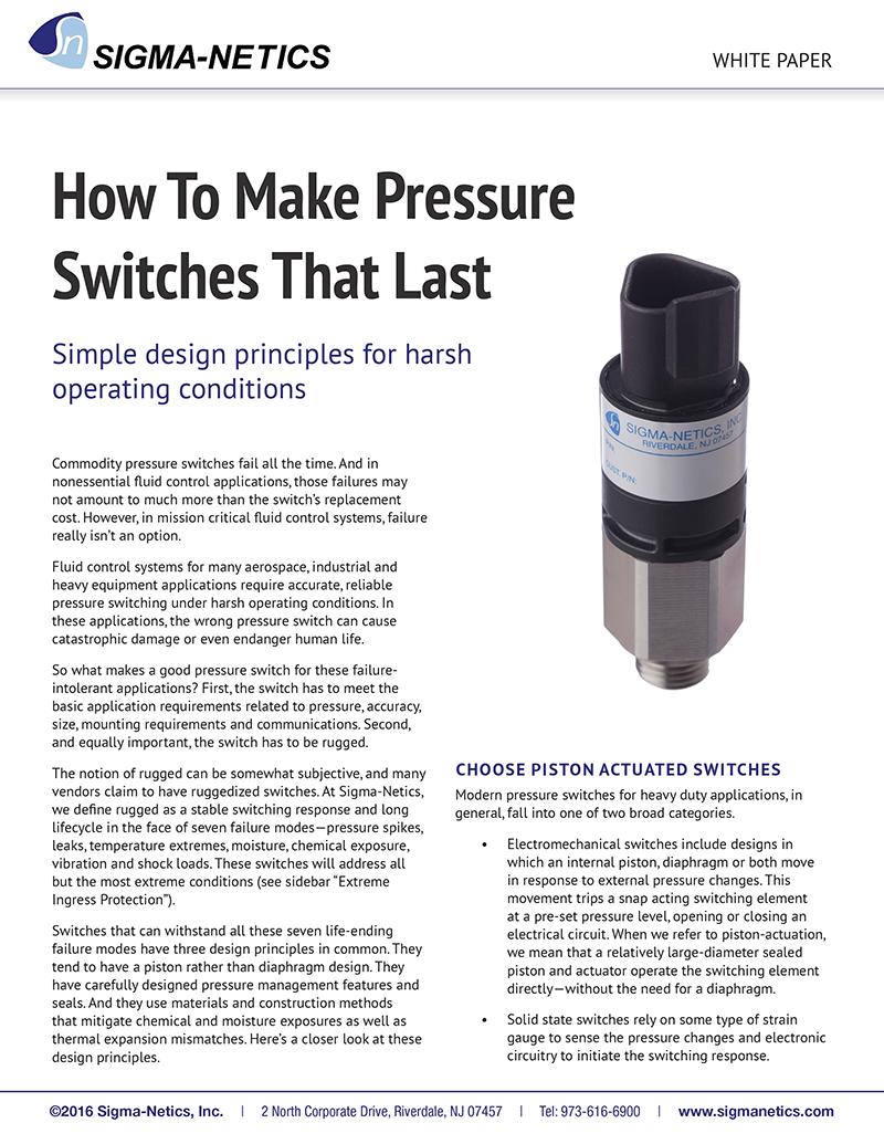 Pressure Switch White Paper