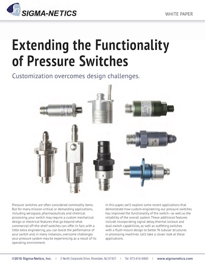 Extending the Functionality of Pressure Switches